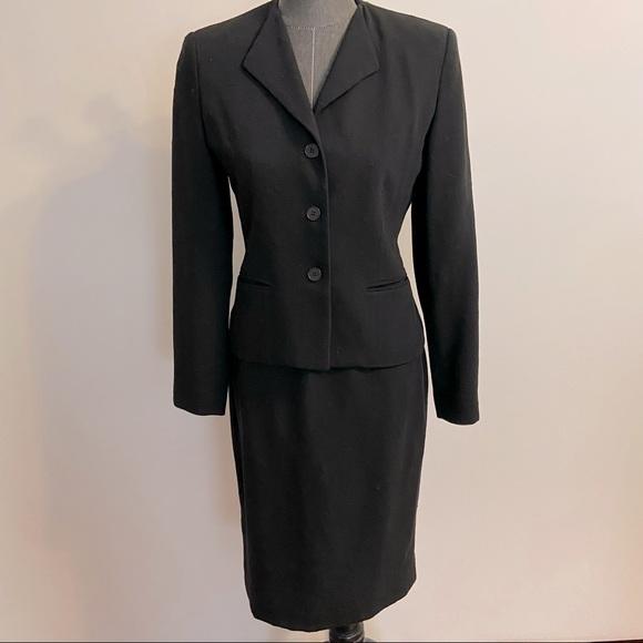 Vintage burberry skirt suit blazer jacket 4